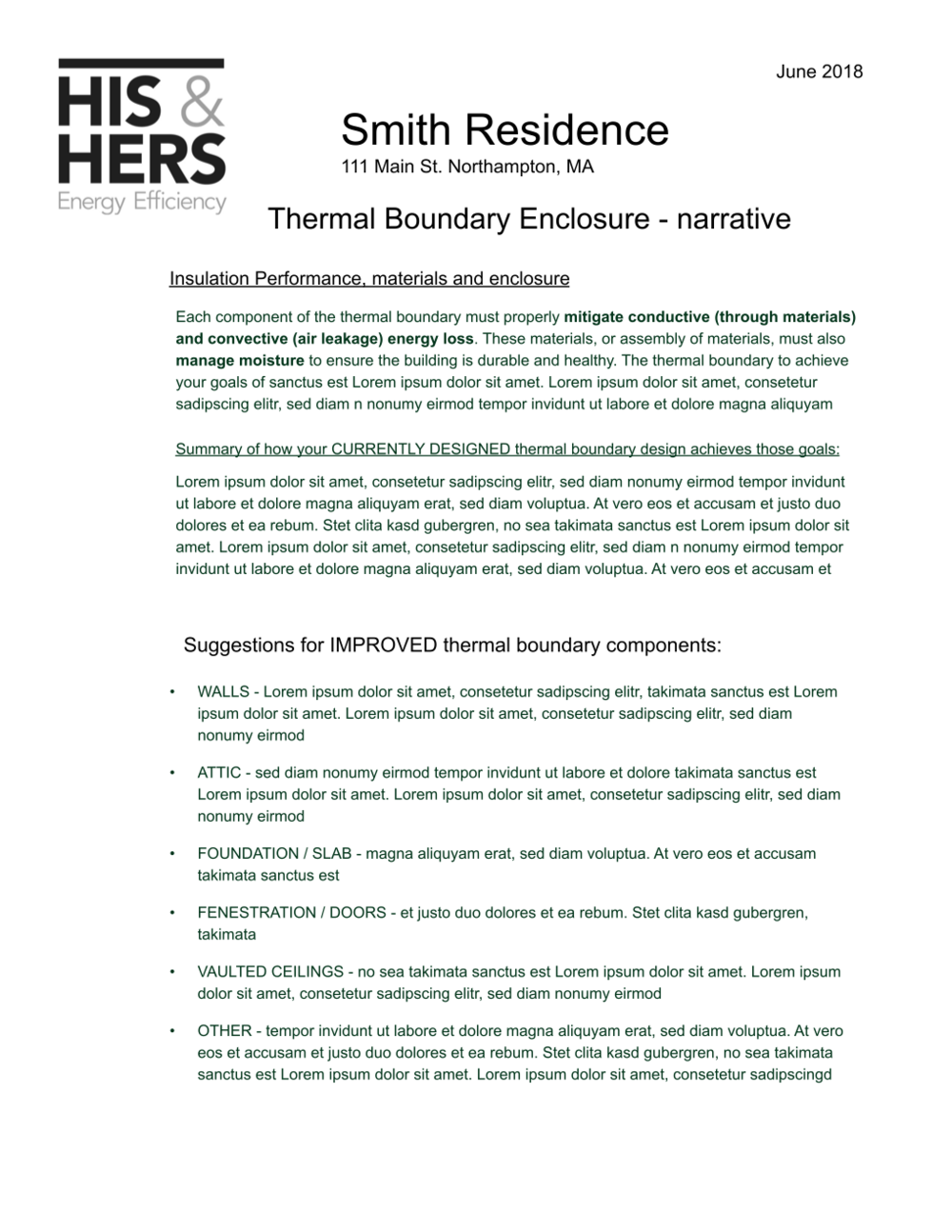 Thermal Boundary - narrative