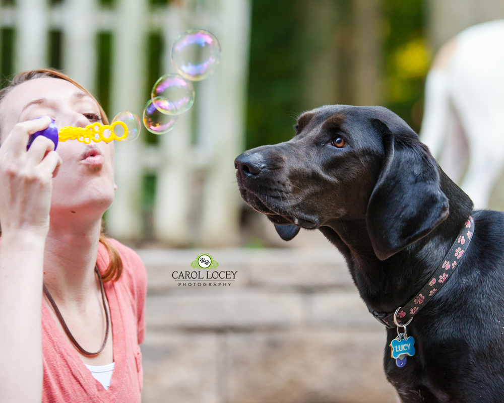 Lucy and bubbles