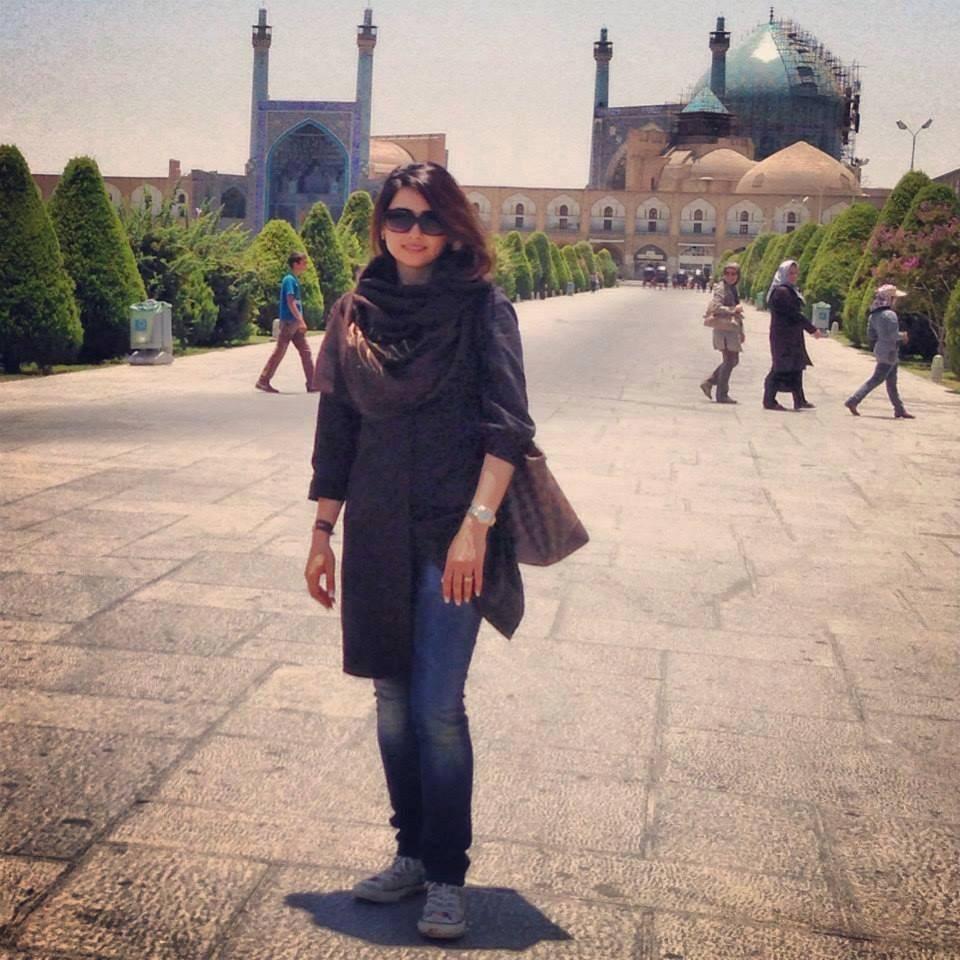 Mon moment de liberté volée à Ispahan, au square Naghsh-e- Jahan.