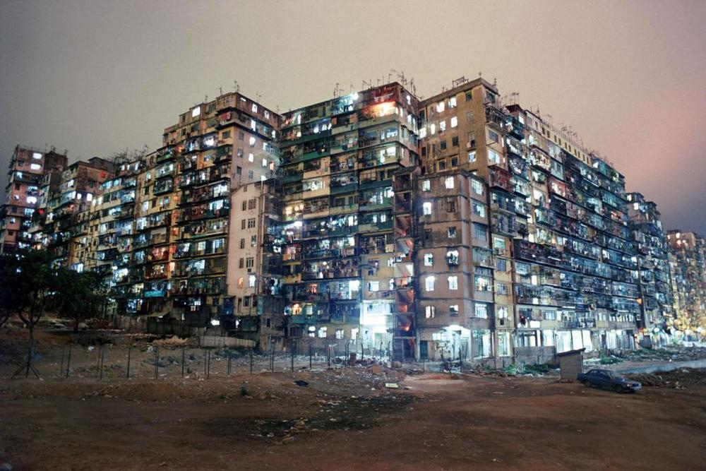 Kowloon Walled City Night View from SW Corner. 1987  © Greg Girard