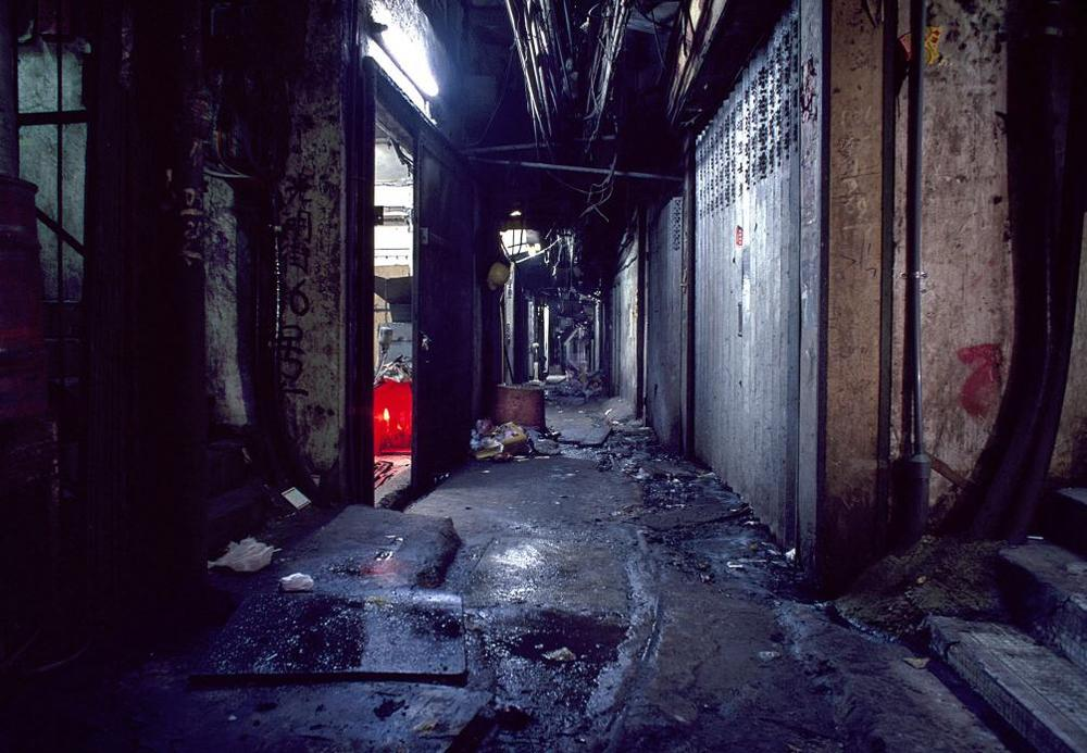 Kwong Ming Street, Kowloon Walled City, 1989  © Greg Girard