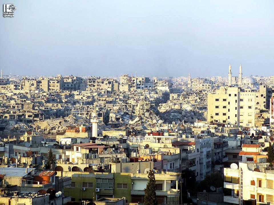 المكان: حــمــص - أحياء حـمـص المحـاصـرة Location: Homs City - Neighborhoods of besieged Homs الزمان: امـــس - 28 تـمــوز 2013 Date: Yesterday - 28 July 2013