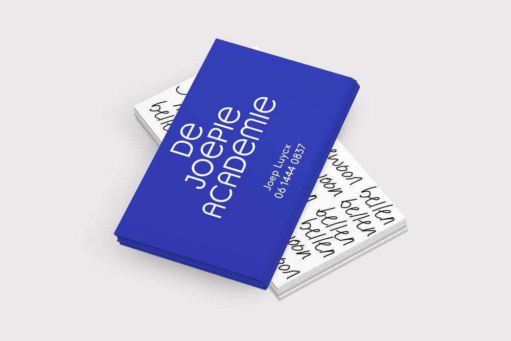 Visitekaartje blauw