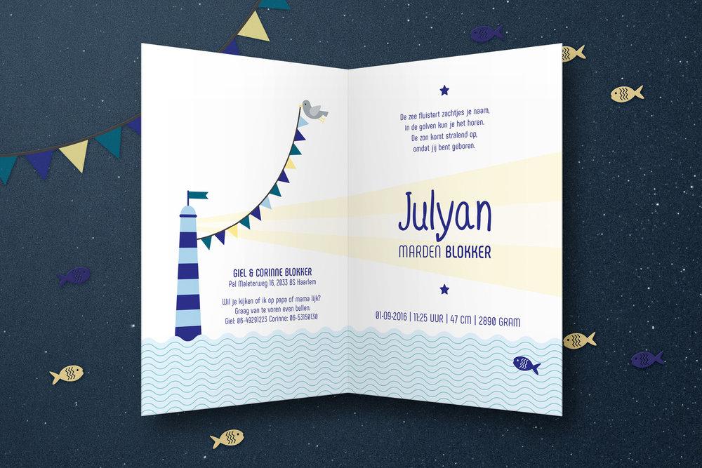 Geboortekaartje Julyan