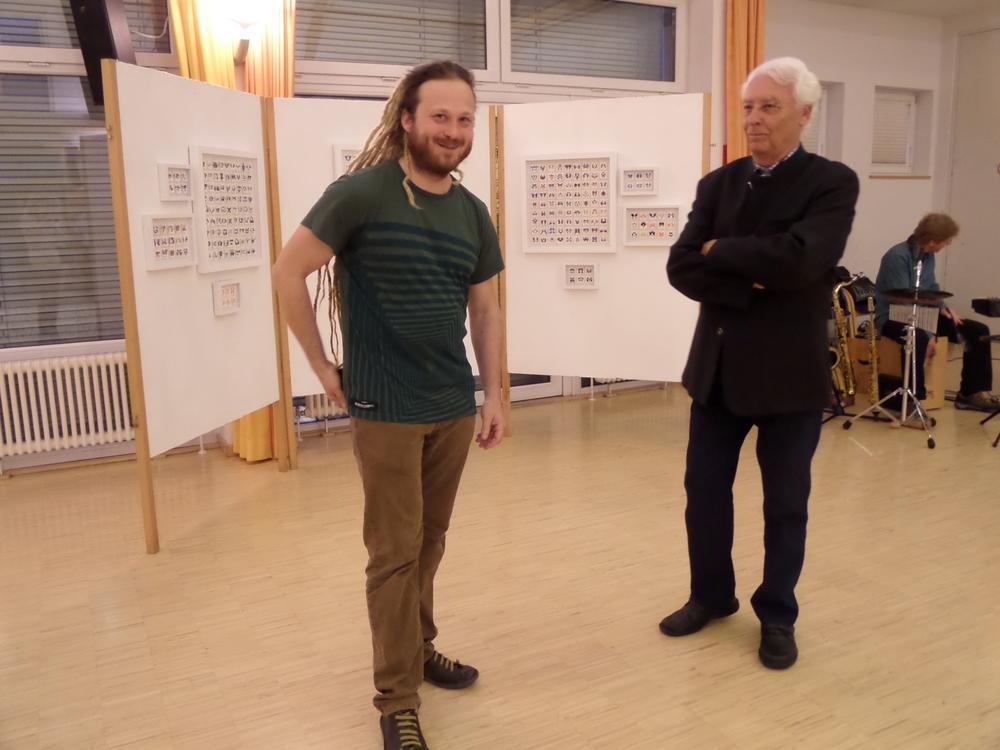Künstler Daniel Wetzelberger im Gespräch mit Künstler Rathkolb