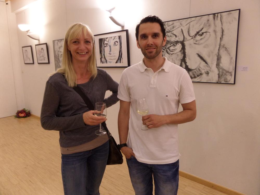 Sigrid Meister und Künstler Michael Ramminger