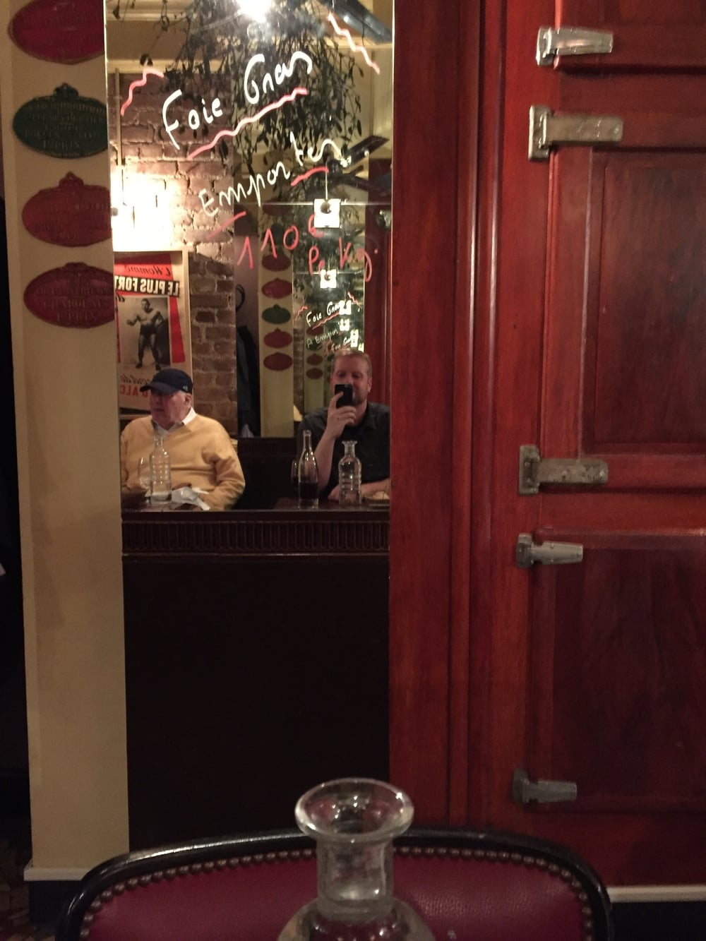 Me and the mirror at Bistrot Paul Bert.