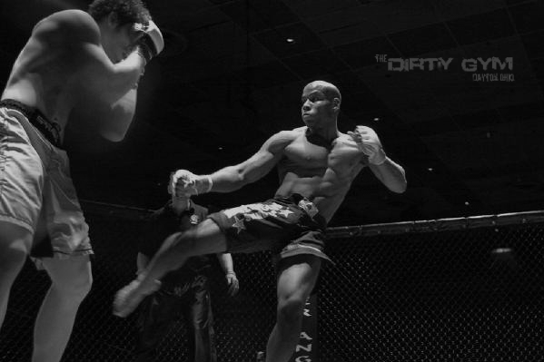 """Neal Craft, Combat Athlete from Ghost Team BJJ & The Dirty Gym, smashing people in competition. Those leg kicks didn't come from just """"Working Out""""."""