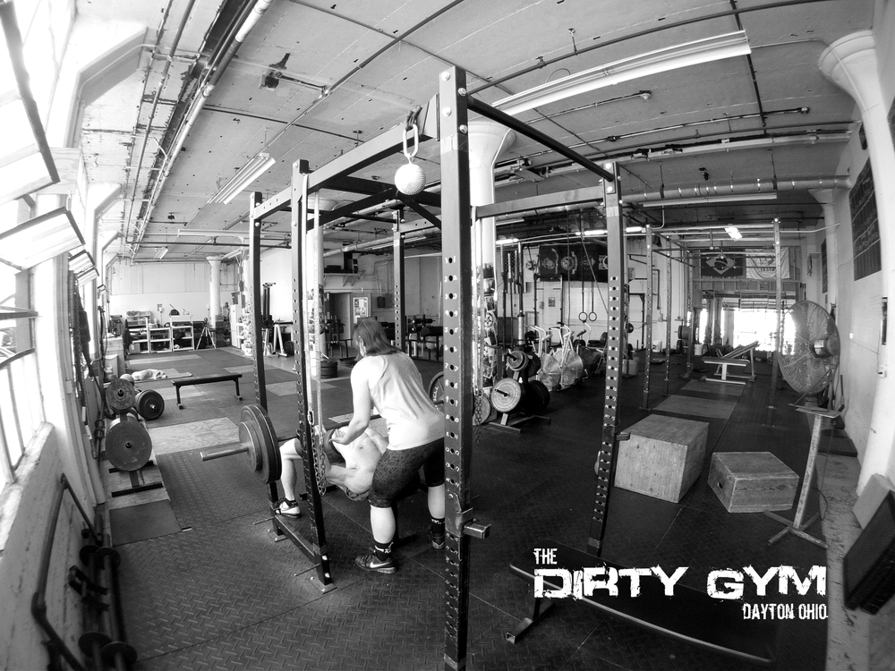 Nationally ranked Marcus Mucheck and Champion Weightlifter Stacy Humphrey getting in a lonely session.