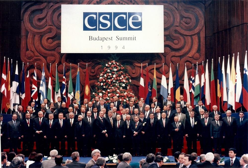 Na sjednici KESS-a u Budimpešti, 1994.