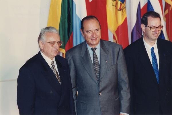 Sa Jacquesom Chiracom, francuskim predsjednikom