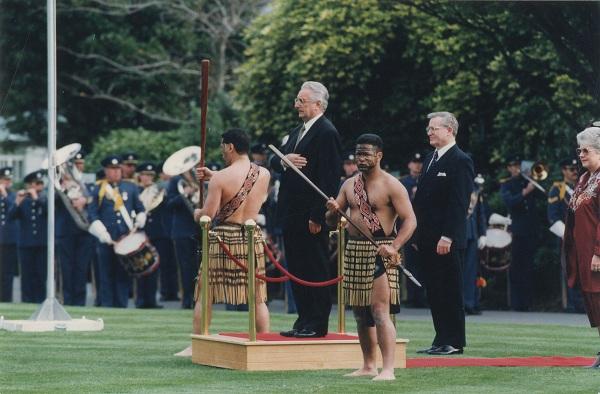 Sa Jimom Bolgerom, novozelandskim premijerom