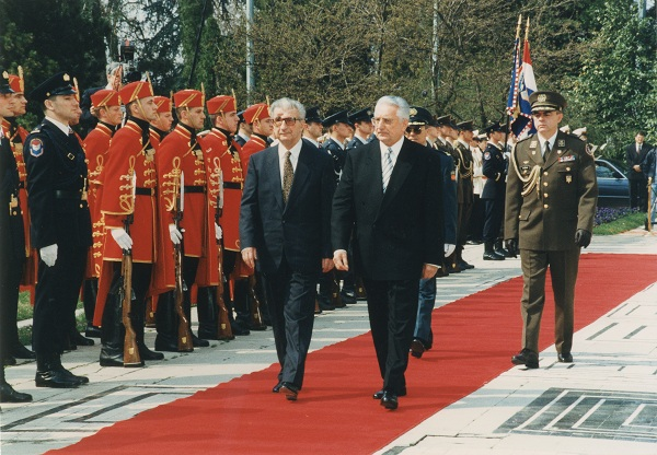 Sa Kirom Gligorovim, makedonskim predsjednikom