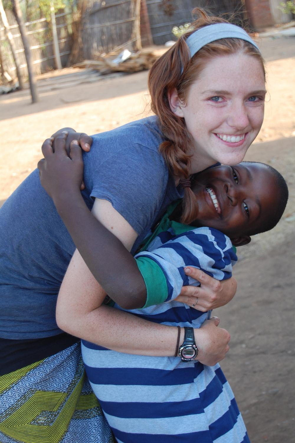 Chikondi and I, summer of 2010.