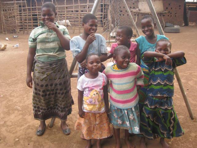 "Some of the girls who will call Patricia's Home ""home."""