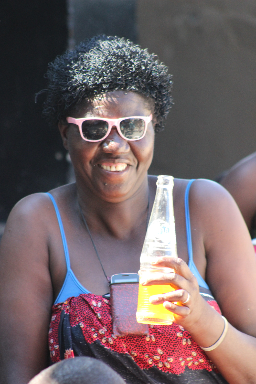 Mayi Bokho rockin' the shades and fanta!