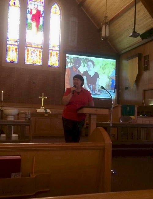Karen Roller speaking at a church about our children. Email her and get information for your presentation!