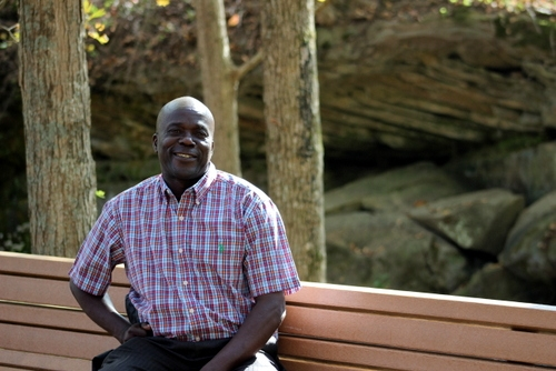 Pastor Phiri while he was here in the US for medical care, visiting Mammoth Cave.