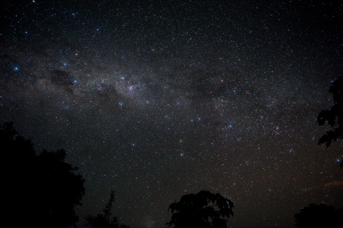 The night sky over Timothy's Home captured here by team member, Sarah Shields.