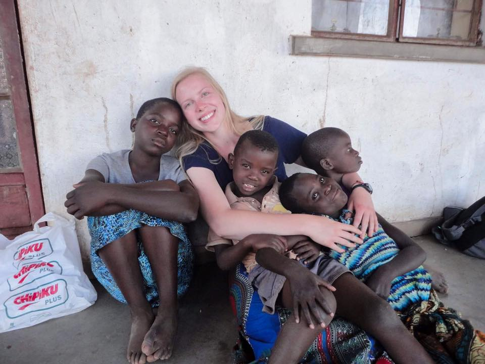 Anna with her lap full of precious children! Dolini, Anna, Clever, Eunice and Evasi