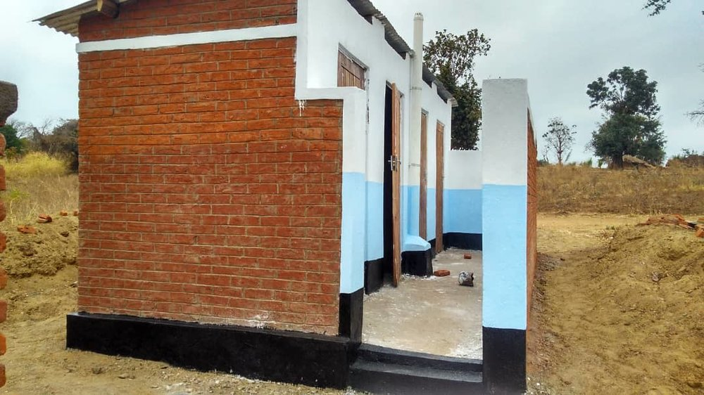 These are the toilets we built at the Primary School. The Clinic toilets will be similar to these.