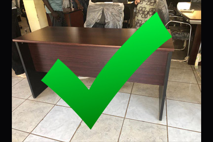 Large Desk & Chair: DONE $380
