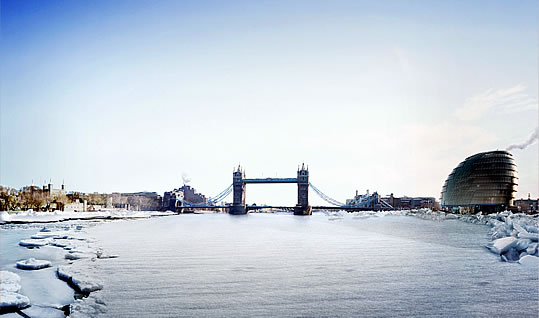 From the visit London blog. The Frozen Thames and the city of London. c.k