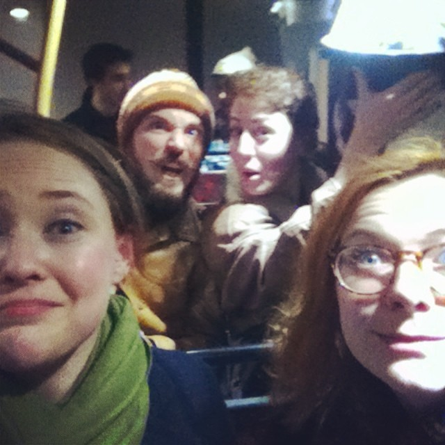 3/4 @badhosttheatre plus a stowaway. Following a mega wet #bhlions @theatredeli