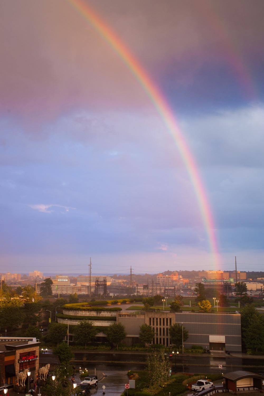 Rainbow over Stamford