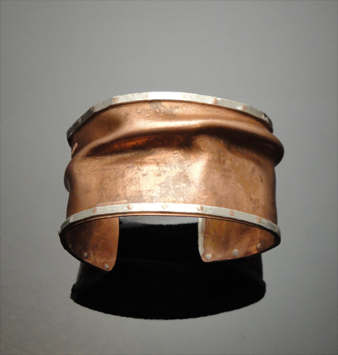 Copper & sterling bracelet