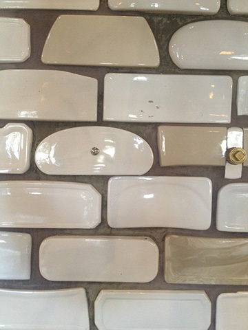 wall of toilet tops