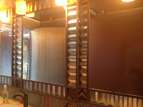 corrugated mirror surrounds