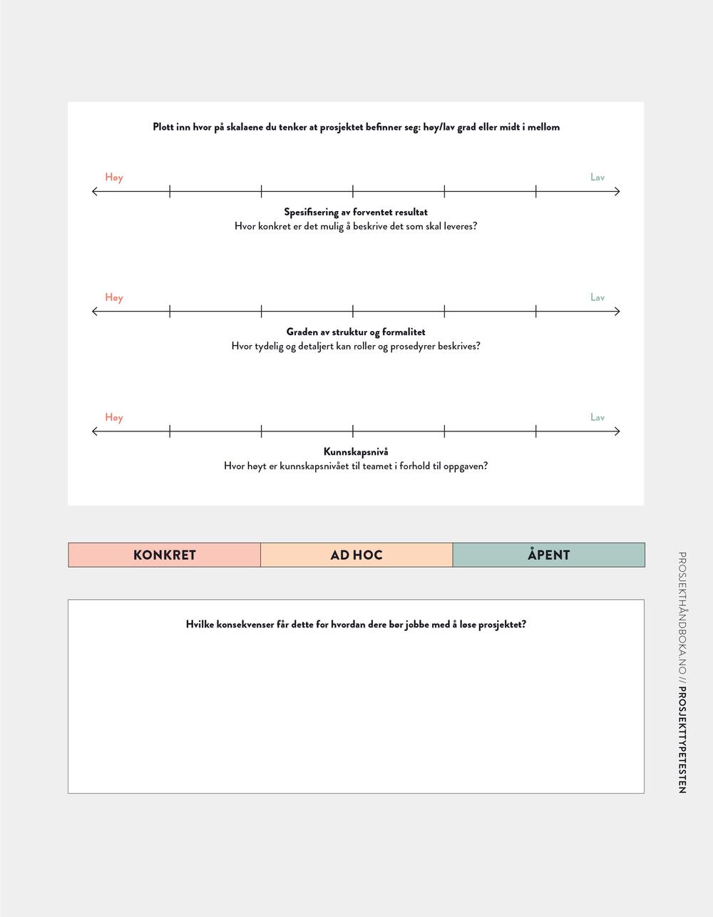 PROSJEKTTYPETESTEN  / SIDE 114-115 /OPPGAVEAVKLARING