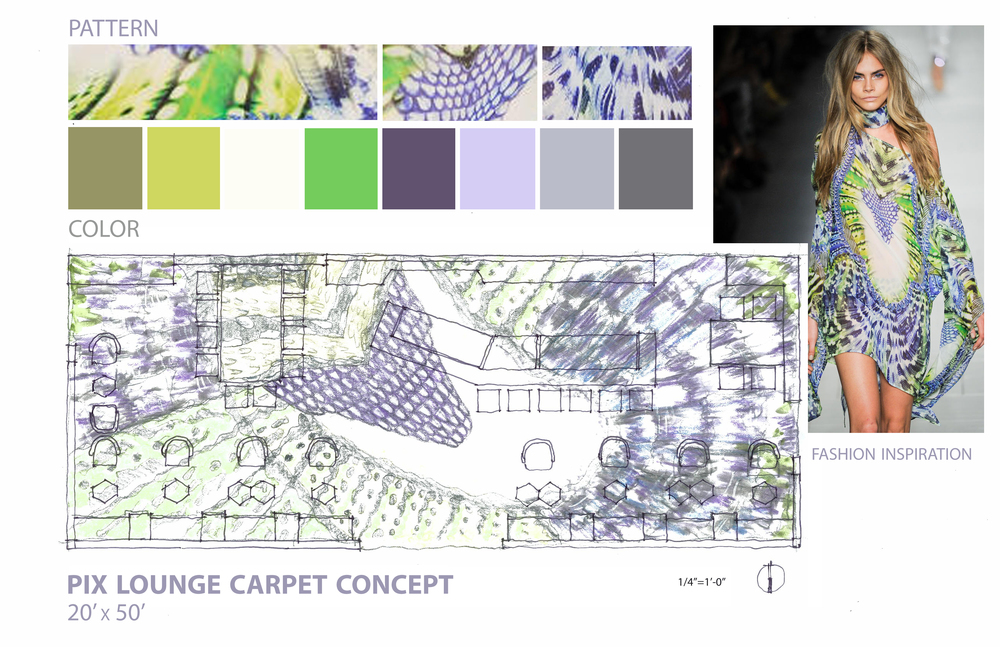 Carpet Inspiration and Conceptual Sketches