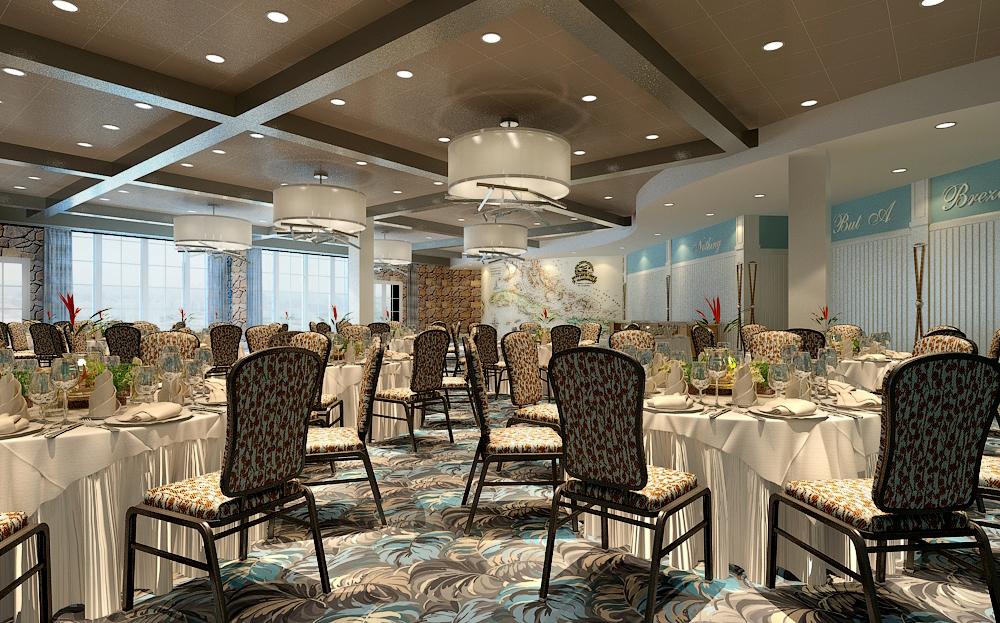 Lounge at Margaritaville Pigeon Forge Interior Design by Design Poole