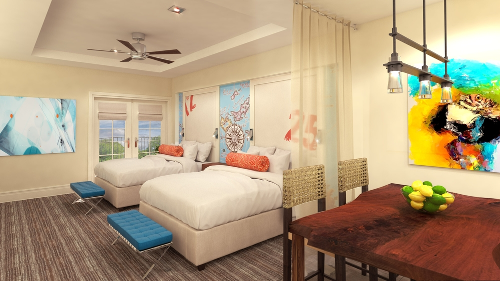 Double Suite at Margaritaville Pigeon Forge Interior Design by Design Poole