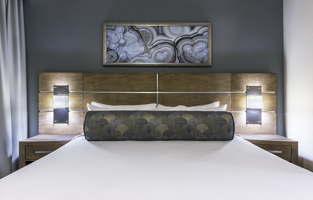 Guest Room Area at Desert Blue Resort in Las Vegas, NV Designed by Design Poole, Inc in Winter Park Florida