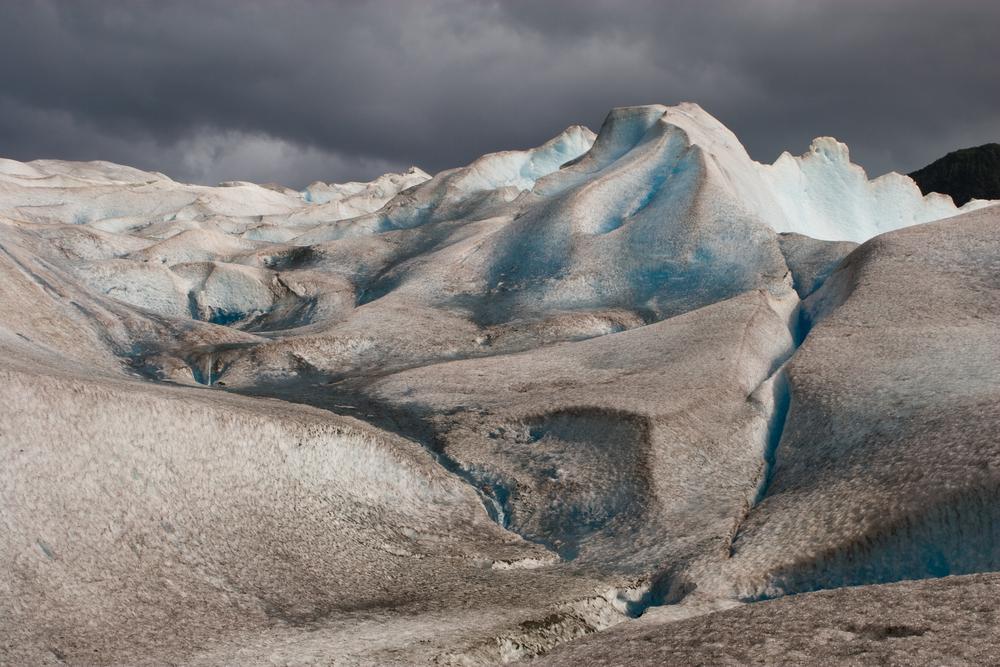 The Mendenhall Glacier. Juneau, Alaska.