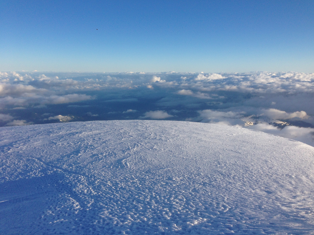 The summit of Mount Baker, Washington.