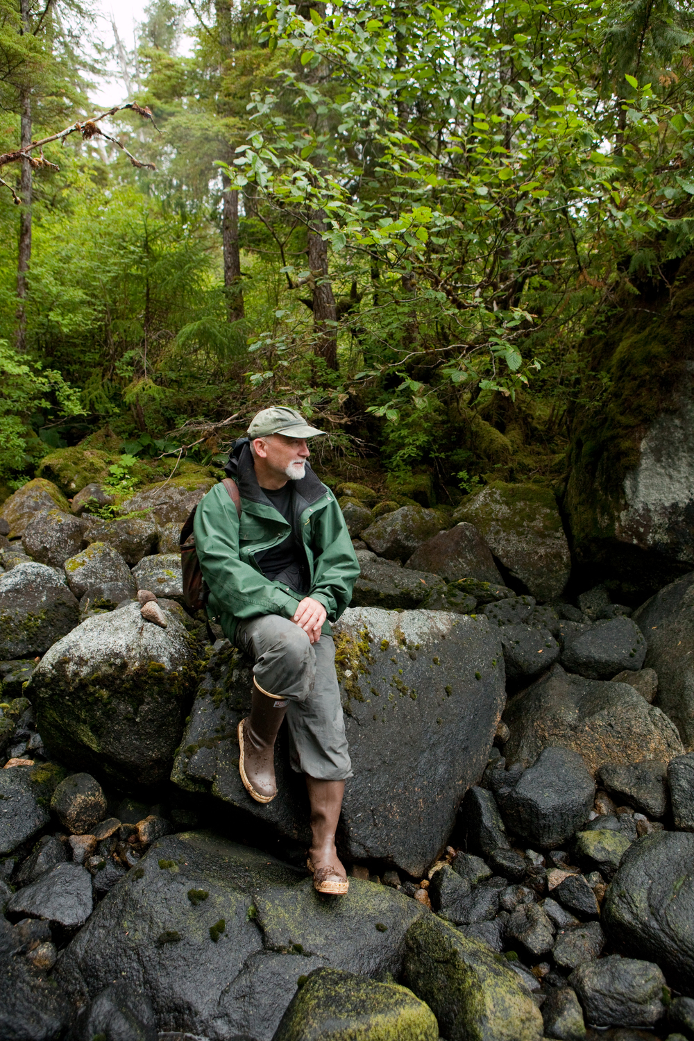 Frank Barnes of the Sitka Ranger District and the USDA Forest Service.  South Baranof Island Wilderness Area.