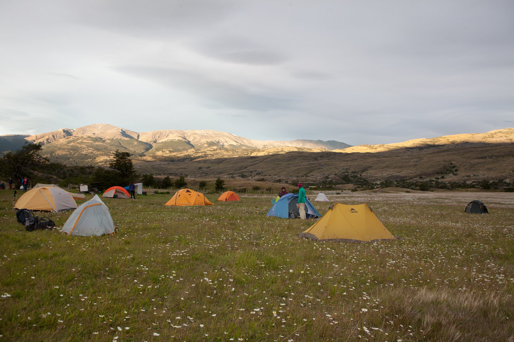 Camp Serón.   Torres del Paine National Park has several sections of private property along the northeast side of the park.   The hike to Camp Serón travels through private property.