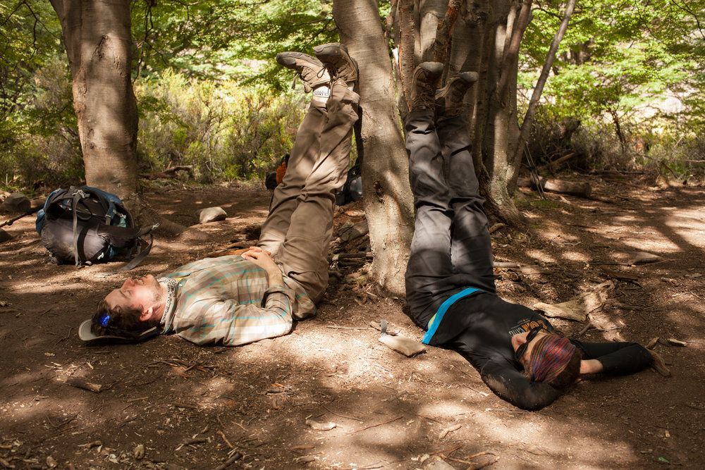 After 22 Kilometers of hiking, we all dropped our packs at the campground and worked on giving our legs a rest.