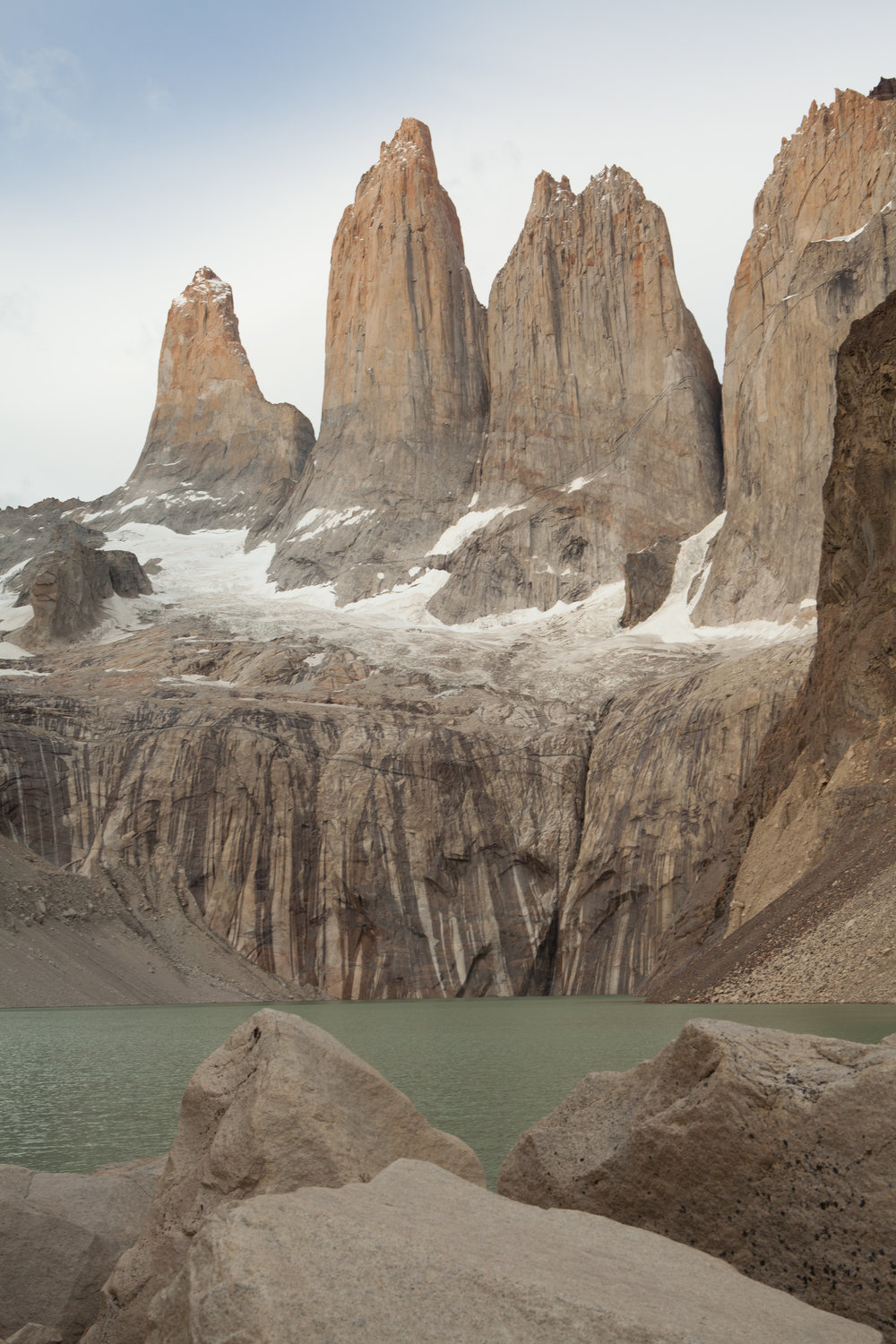 The spires of Torres del Paine National Park, Chile.