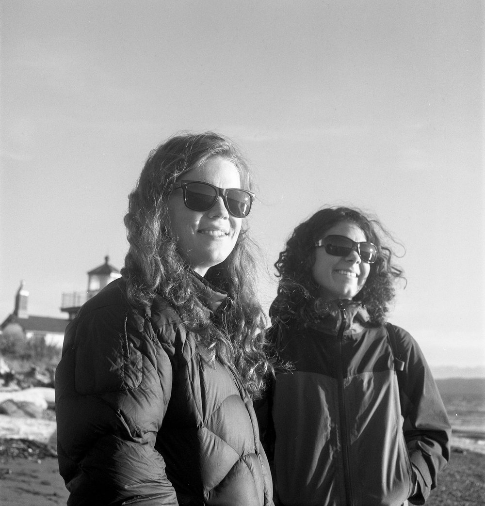 Callie Runestad (now Hefstad), and Megan Ihlenfeld (now Welty) at Discovery Park, 2011.