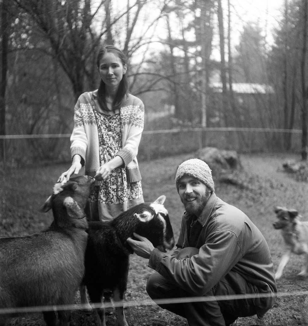 A couple with their goats in Bellingham, 2011.