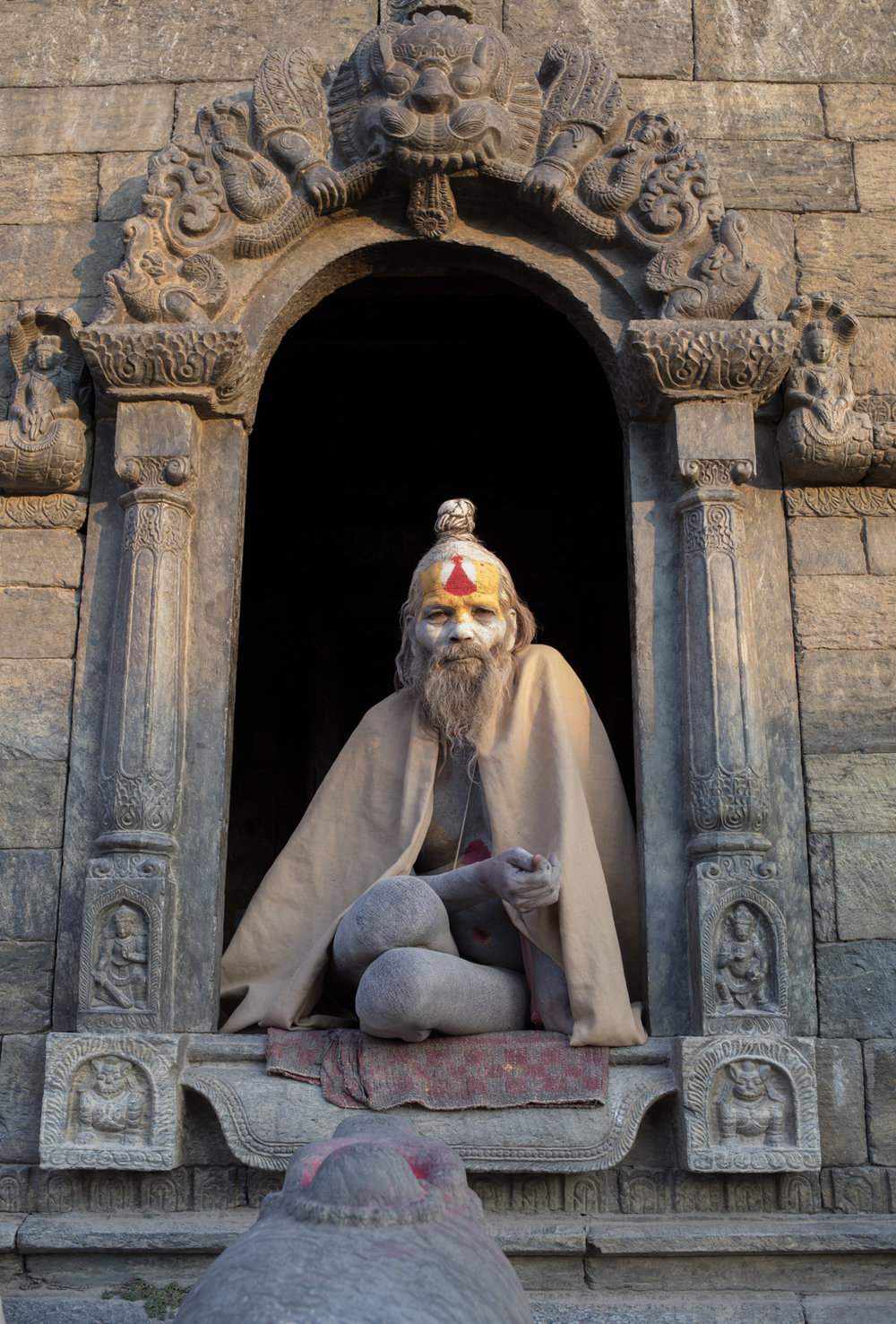 A portrait of a Sadhu holy man.
