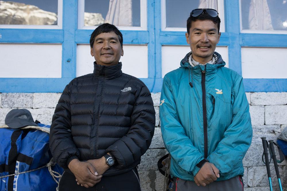 Our guide Lakpa Sherpa and his son Wanda Sherpa.