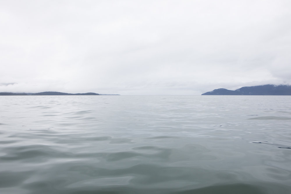Icy Strait, Alaska.  We ended up getting slightly wetter weather than normal, but we lucked out with nearly perfect water every day.