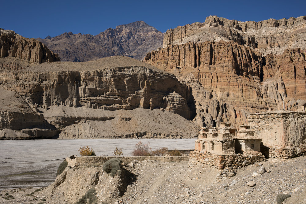 Aaron spotted some of the first stone Chorten that are typical in Mustang.