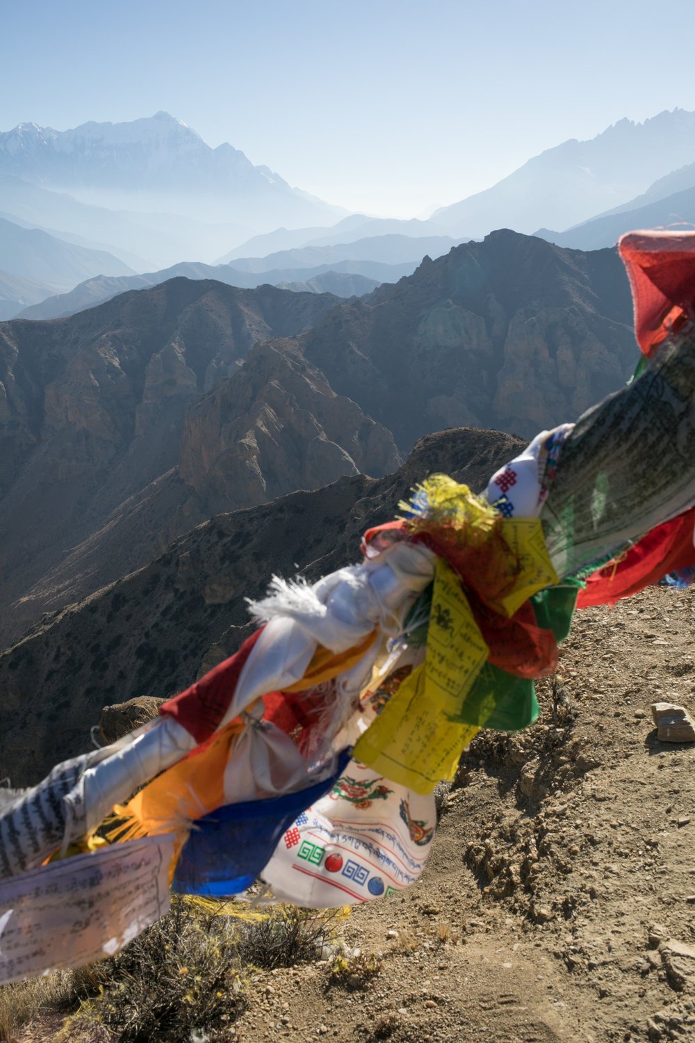 Mountains and Prayer Flags.